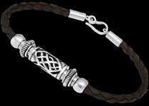 Men's Jewelry - Sterling Silver and Leather Bracelets