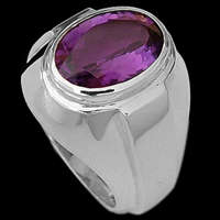 Sterling Silver Ring Amethyst Rings