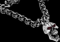 sterling silver gothic necklaces